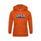 Youth Orange Fleece Hoodie-UTSA Roadrunners Stacked