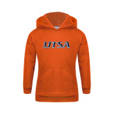 Youth Orange Fleece Hoodie-UTSA