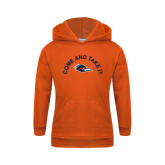 Youth Orange Fleece Hoodie-Come and Take It Arched