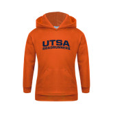 Youth Orange Fleece Hoodie-Arched UTSA Roadrunners