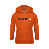 Youth Orange Fleece Hoodie-Roadrunners Two Tone Diagonal