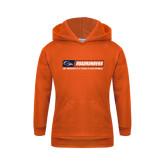 Youth Orange Fleece Hoodie-Roadrunners Bar w/ Head
