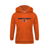 Youth Orange Fleece Hoodie-White Out