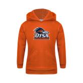 Youth Orange Fleece Hoodie-Track & Field