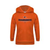 Youth Orange Fleece Hoodie-Roadrunners Football Underline