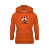Youth Orange Fleece Hoodie-Roadrunners Football Vertical