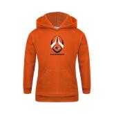 Youth Orange Fleece Hoodie-Roadrunners Football Vertical