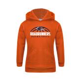Youth Orange Fleece Hoodie-Roadrunners Basketball Half Ball