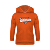 Youth Orange Fleece Hoodie-Roadrunners Baseball Script w/ Plate