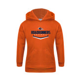 Youth Orange Fleece Hoodie-Roadrunners Baseball Plate