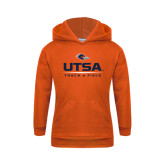 Youth Orange Fleece Hoodie-UTSA Track & Field