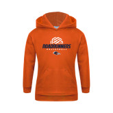 Youth Orange Fleece Hoodie-Roadrunners Volleyball Geometric Ball