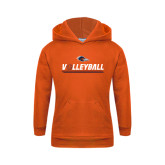 Youth Orange Fleece Hoodie-Volleyball Bar