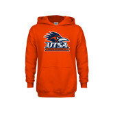 Youth Orange Fleece Hoodie-Primary Logo