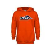 Youth Orange Fleece Hoodie-UTSA Roadrunners w/ Head Flat