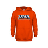 Youth Orange Fleece Hoodie-UTSA Roadrunners Stacked