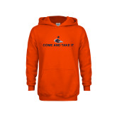 Youth Orange Fleece Hoodie-Come and Take It Flat