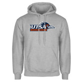 Grey Fleece Hoodie-UTSA Roadrunners w/ Head Flat