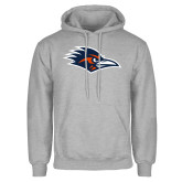 Grey Fleece Hoodie-Roadrunner Head