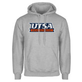Grey Fleece Hoodie-UTSA Roadrunners Stacked
