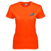 Ladies Orange T Shirt-UTSA Roadrunners w/ Head Flat