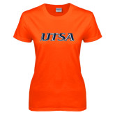 Ladies Orange T Shirt-UTSA