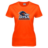 Ladies Orange T Shirt-Track & Field