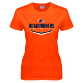 Ladies Orange T Shirt-Roadrunners Baseball Plate