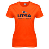Ladies Orange T Shirt-UTSA Track & Field