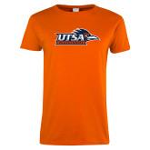 Ladies Orange T Shirt-UTSA Roadrunners w/ Head Flat