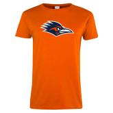 Ladies Orange T Shirt-Roadrunner Head