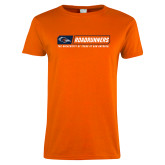 Ladies Orange T Shirt-Roadrunners Bar w/ Head