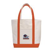 Contender White/Orange Canvas Tote-Primary Logo