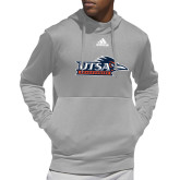 Adidas Grey Team Issue Hoodie-UTSA Roadrunners w/ Head Flat