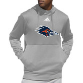 Adidas Grey Team Issue Hoodie-Roadrunner Head