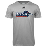Adidas Climalite Sport Grey Ultimate Performance Tee-UTSA Roadrunners w/ Head Flat
