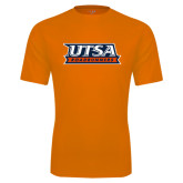 Performance Orange Tee-UTSA Roadrunners Stacked