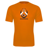 Performance Orange Tee-Roadrunners Football Vertical