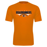 Performance Orange Tee-Roadrunners Football Horizontal