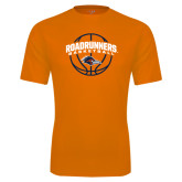 Performance Orange Tee-Roadrunners Basketball Arched
