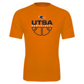 Performance Orange Tee-UTSA Basketball Half Ball