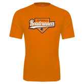 Performance Orange Tee-Roadrunners Baseball Script w/ Plate
