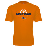 Performance Orange Tee-Roadrunners Volleyball Geometric Ball