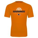 Performance Orange Tee-Roadrunners Volleyball Geometric Ball