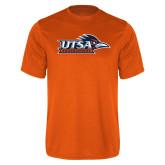 Performance Orange Tee-UTSA Roadrunners w/ Head Flat