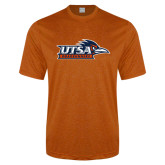Performance Orange Heather Contender Tee-UTSA Roadrunners w/ Head Flat