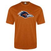 Performance Orange Heather Contender Tee-Roadrunner Head