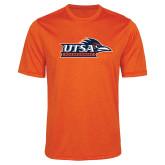 Performance Orange Heather Contender Tee-UTSA Roadrunners w/ Head Flat