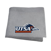 Grey Sweatshirt Blanket-UTSA Roadrunners w/ Head Flat