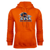 Orange Fleece Hood-Primary Logo